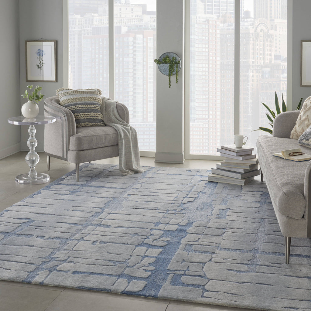 Angela Blue/Grey Area Rug RUGSANDROOMS