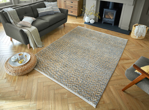 Image of Leah Ochre Area Rug