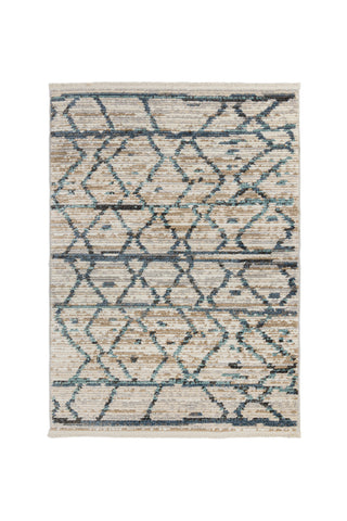 Image of Bella Natural / Blue Area Rug