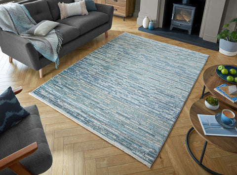 Lily Blue / Natural Area Rug