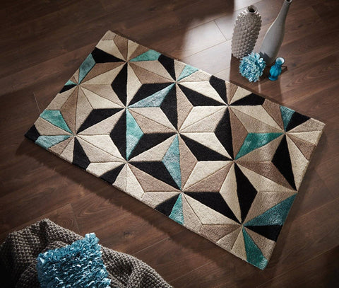 Image of Regina Teal Area Rug RUGSANDROOMS