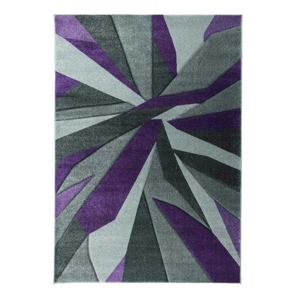 Shatter Purple/Grey Area Rug RUGSANDROOMS