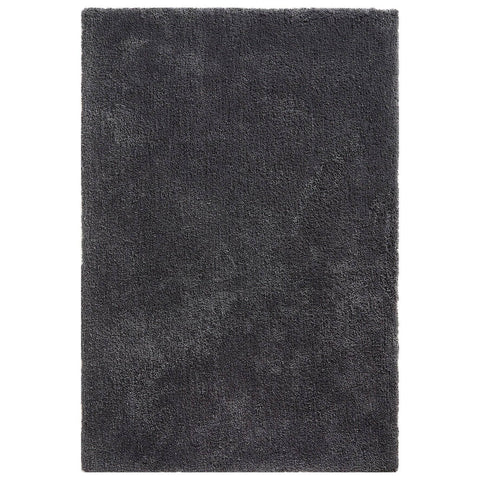 Image of Soft Shaggy Charcoal Grey Area Rug RUGSANDROOMS