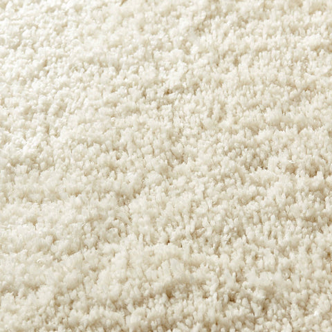 Image of Soft Shaggy Cream Area Rug RUGSANDROOMS