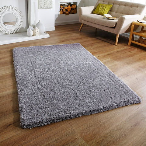 Image of Soft Shaggy Grey Area Rug RUGSANDROOMS
