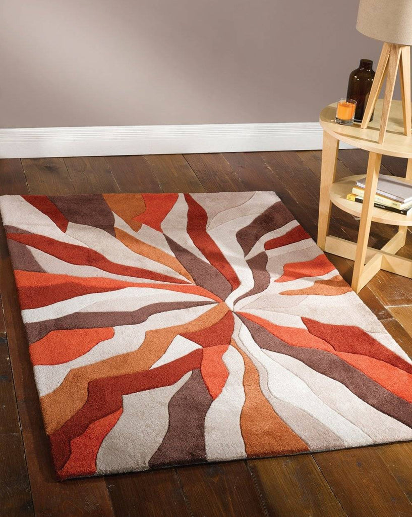Maddie Orange Area Rug RUGSANDROOMS