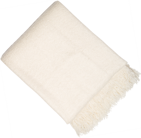 Malini Vogue Ivory Throw