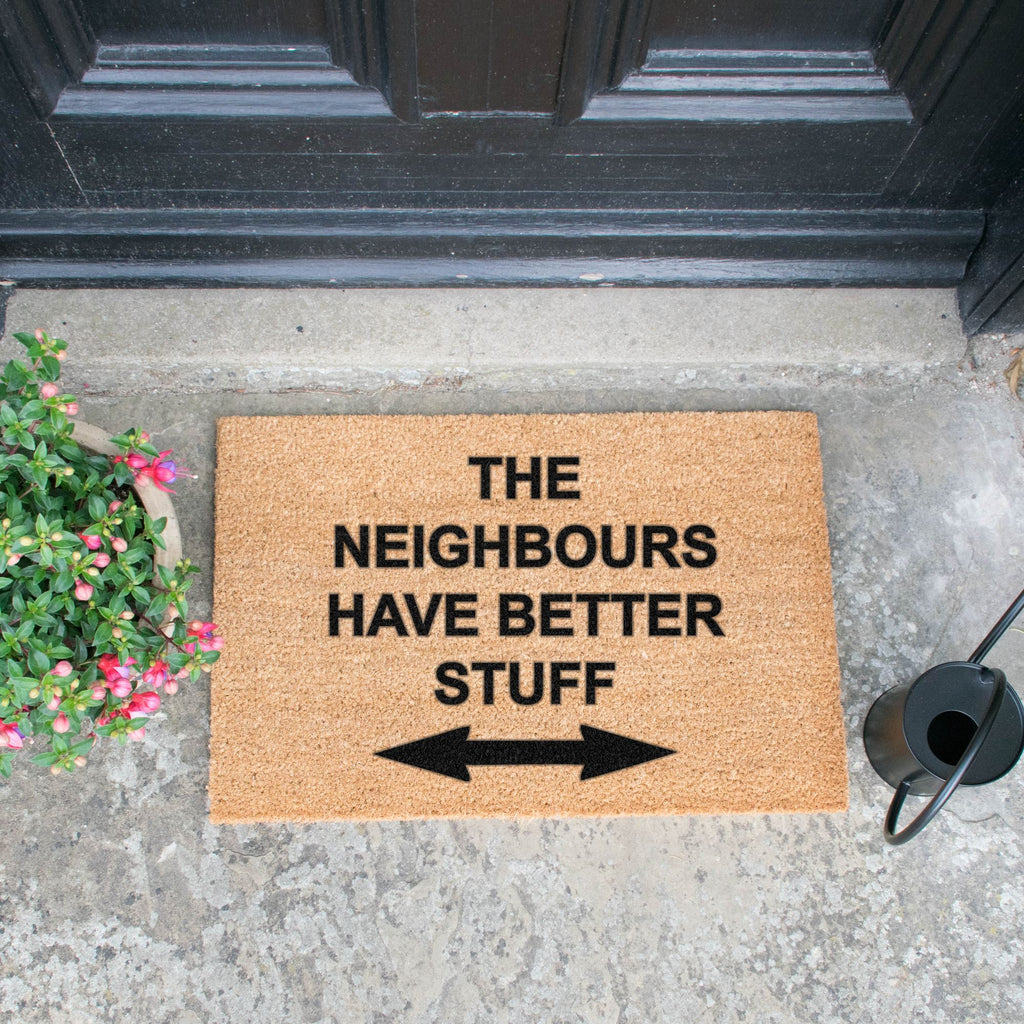 Neighbours have better stuff Doormat RUGSANDROOMS