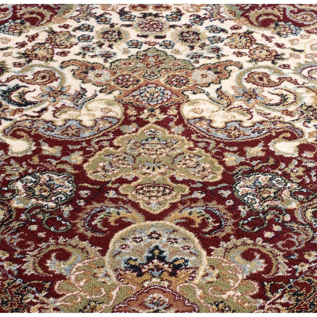 Tabriz Persian Style Red Area Rug RUGSANDROOMS