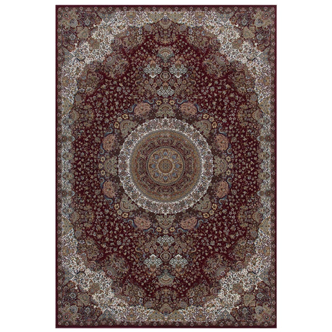 Image of Tabriz Persian Style Red Area Rug RUGSANDROOMS