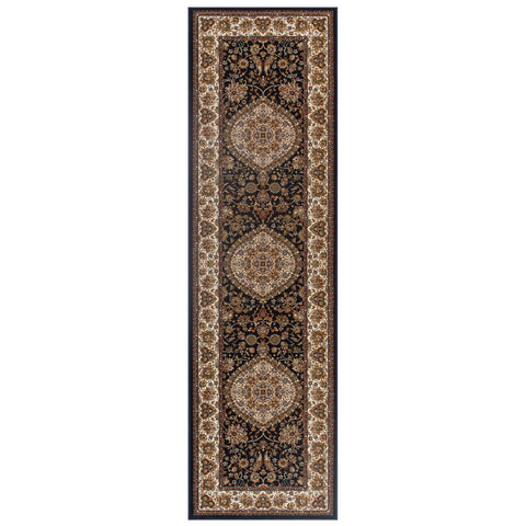 Image of Tabriz Navy Blue Area Rug RUGSANDROOMS