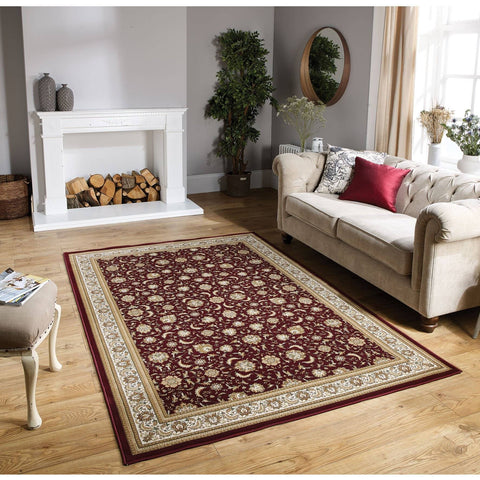 Image of Tabriz Red Area Rug RUGSANDROOMS