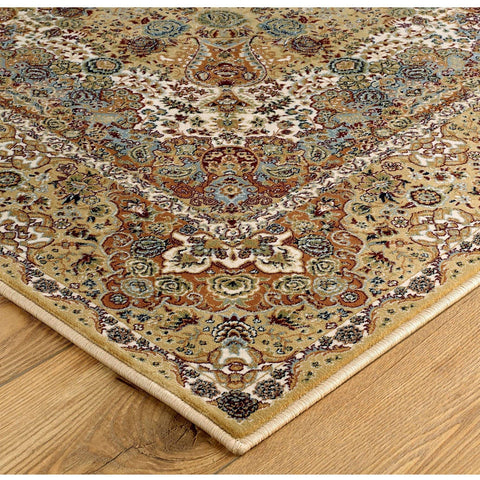 Image of Tabriz Beige/Cream Area Rug RUGSANDROOMS