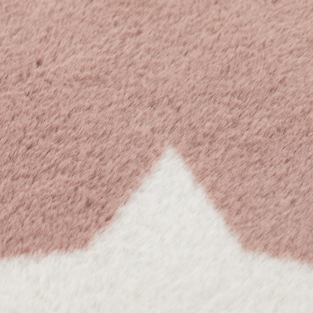 Candy Floss Pink Stars Area Rug