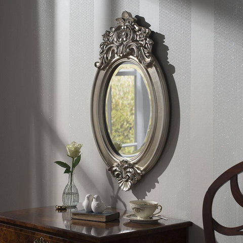 Vintage Oval Accent Mirror RUGSANDROOMS