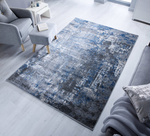 Image of Denver Blue/Grey Area Rug