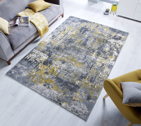 Anise Grey/Ochre Area Rug