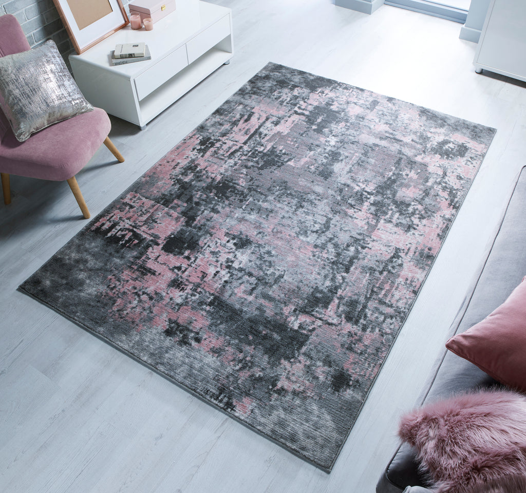 Adelaide Grey/Pink Area Rug