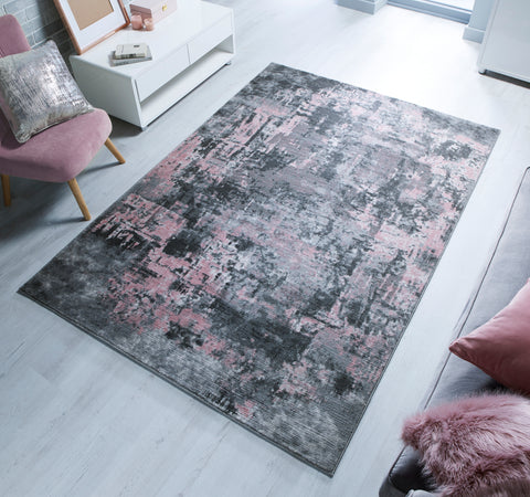 Image of Adelaide Grey/Pink Area Rug