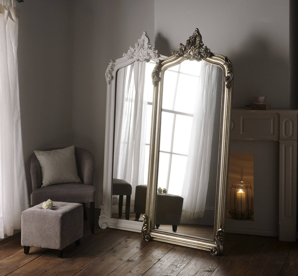 Traditional Silver Vanity Mirror RUGSANDROOMS