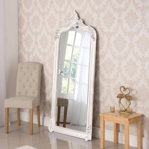 Traditional Vanity White Mirror RUGSANDROOMS