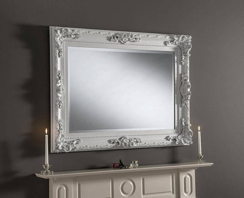 Traditional White Wall Mirror RUGSANDROOMS
