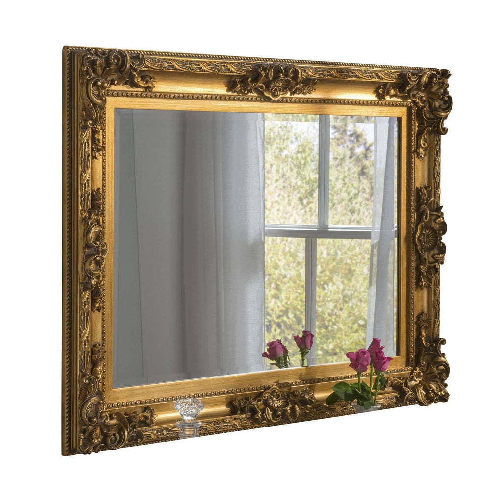 Vintage Gold Wall Mirror RUGSANDROOMS