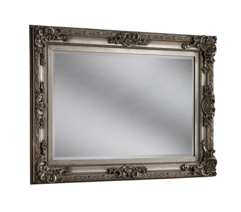 Image of Silver Wall Accent Mirror RUGSANDROOMS