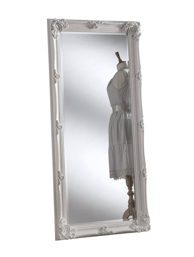 Tirana Accent Mirror - White or Silver RUGSANDROOMS