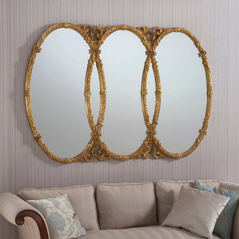 Overlap Gold Mirror