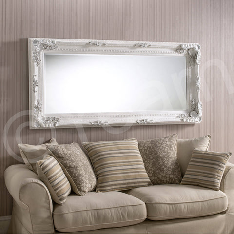 Moselle White Wall Mirror RUGSANDROOMS