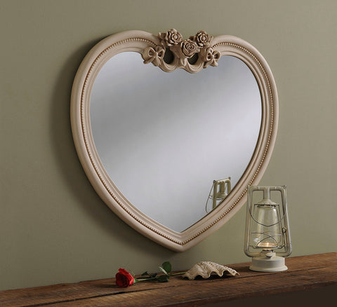 Image of Ivory Heart Mirror