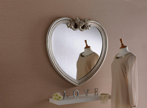 Image of Silver Heart Mirror