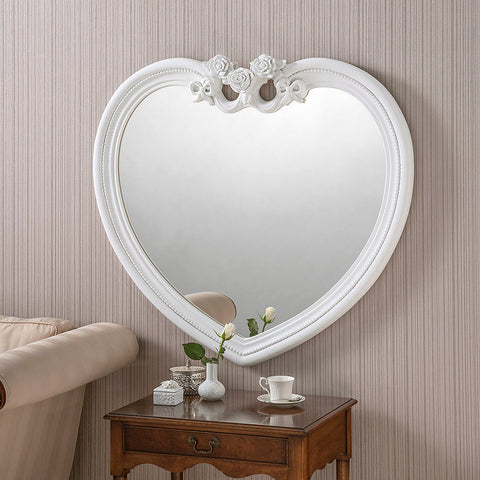 White Heart Mirror