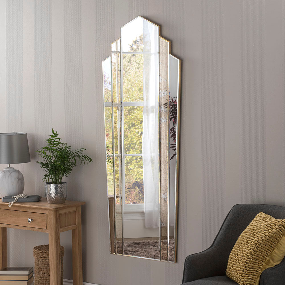Antique Vertical Wall Mirror