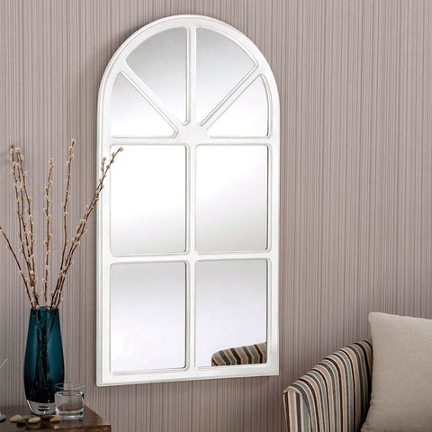 Zara White Window Wall Mirror