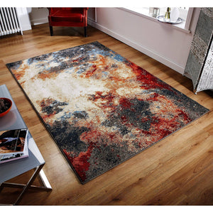 Abstract Multi Coloured Area Rug RUGSANDROOMS