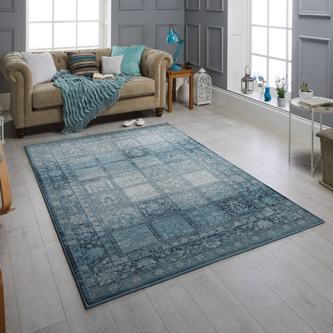 Zarah Traditional Blue Area Rug RUGSANDROOMS