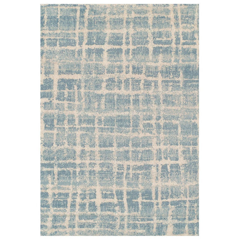 Image of Abstract Blue Area Rug RUGSANDROOMS