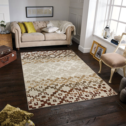 Zarah Cream/Red Area Rug RUGSANDROOMS