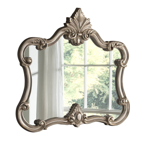 Traditional Silver Wall Mirror RUGSANDROOMS