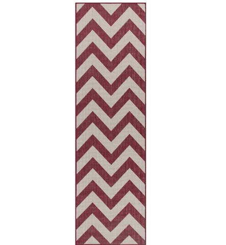 Image of Moda Chevron Red Area Rug RUGSANDROOMS