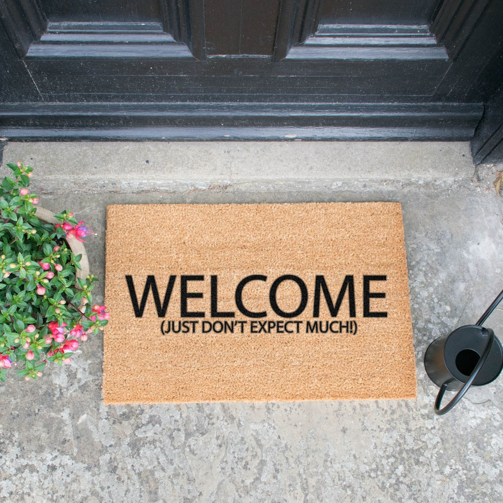 Welcome Don't Expect Much Doormat RUGSANDROOMS