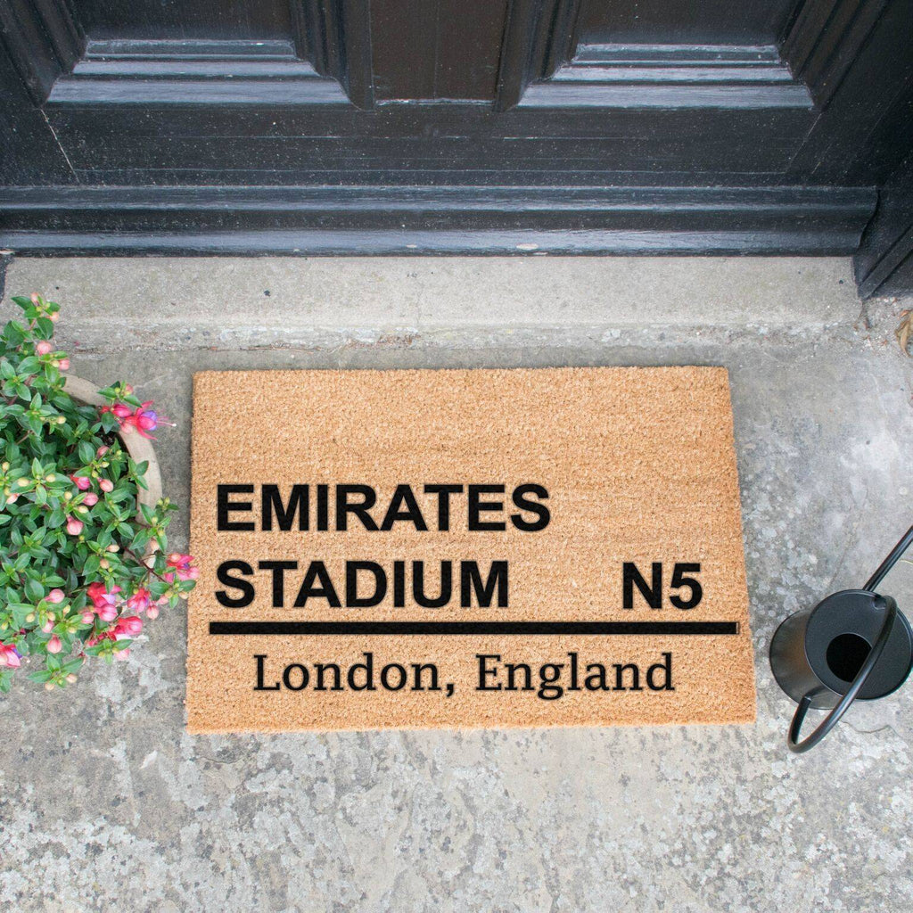 Emirates Stadium Football Doormat RUGSANDROOMS