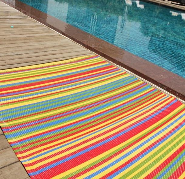 Funzie Multi Colour Indoor-Outdoor Reversible Rug cvsonia