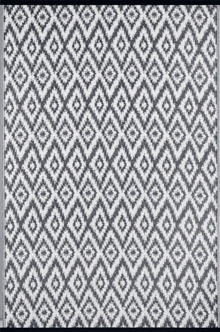 Espero Charcoal Grey & White Indoor &Outdoor Reversible Rug cvsonia