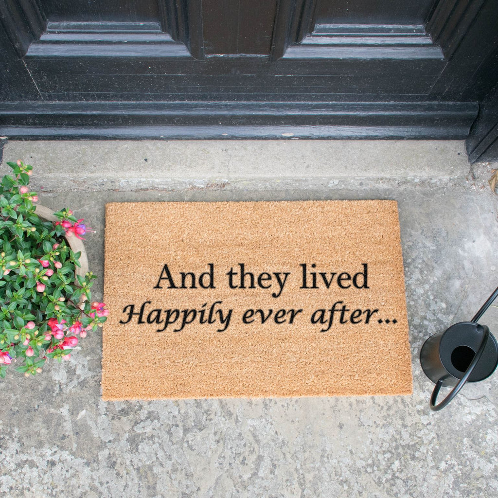 And they lived happily ever after doormat RUGSANDROOMS