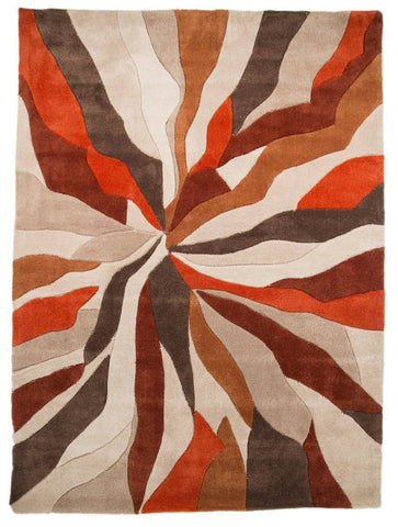 Image of Maddie Orange Area Rug RUGSANDROOMS