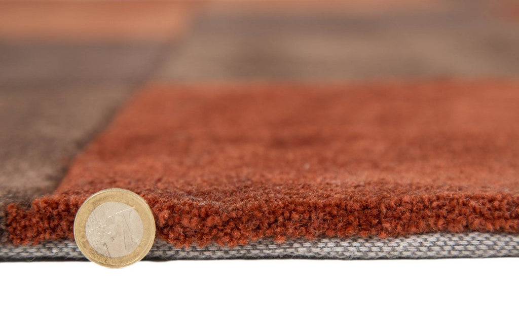 Mabel Rust/Chocolate Area Rug RUGSANDROOMS