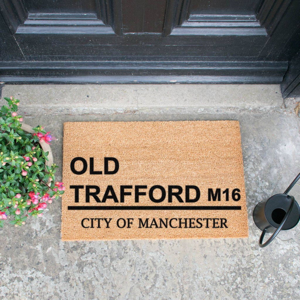 Old Trafford Football Doormat RUGSANDROOMS